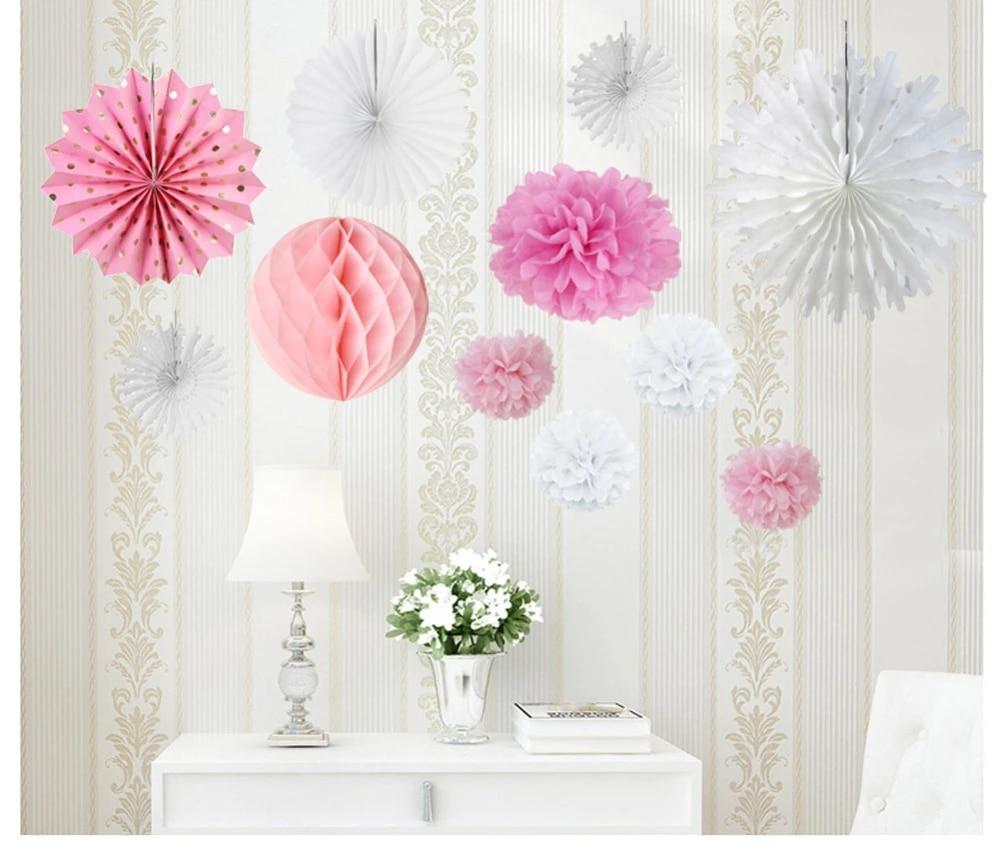 Wedding Decoration Baby Shower Decor White Wedding Decoration White Pom Pom Decorationw Wedding Pom Poms Birthday Decoration