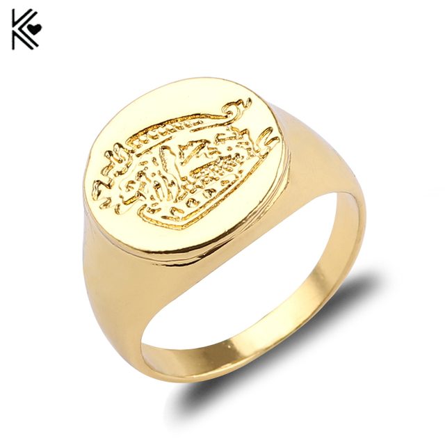 Kingsman The Secret Service Custom Signet Rings For Men Women Alloy Gold Color J