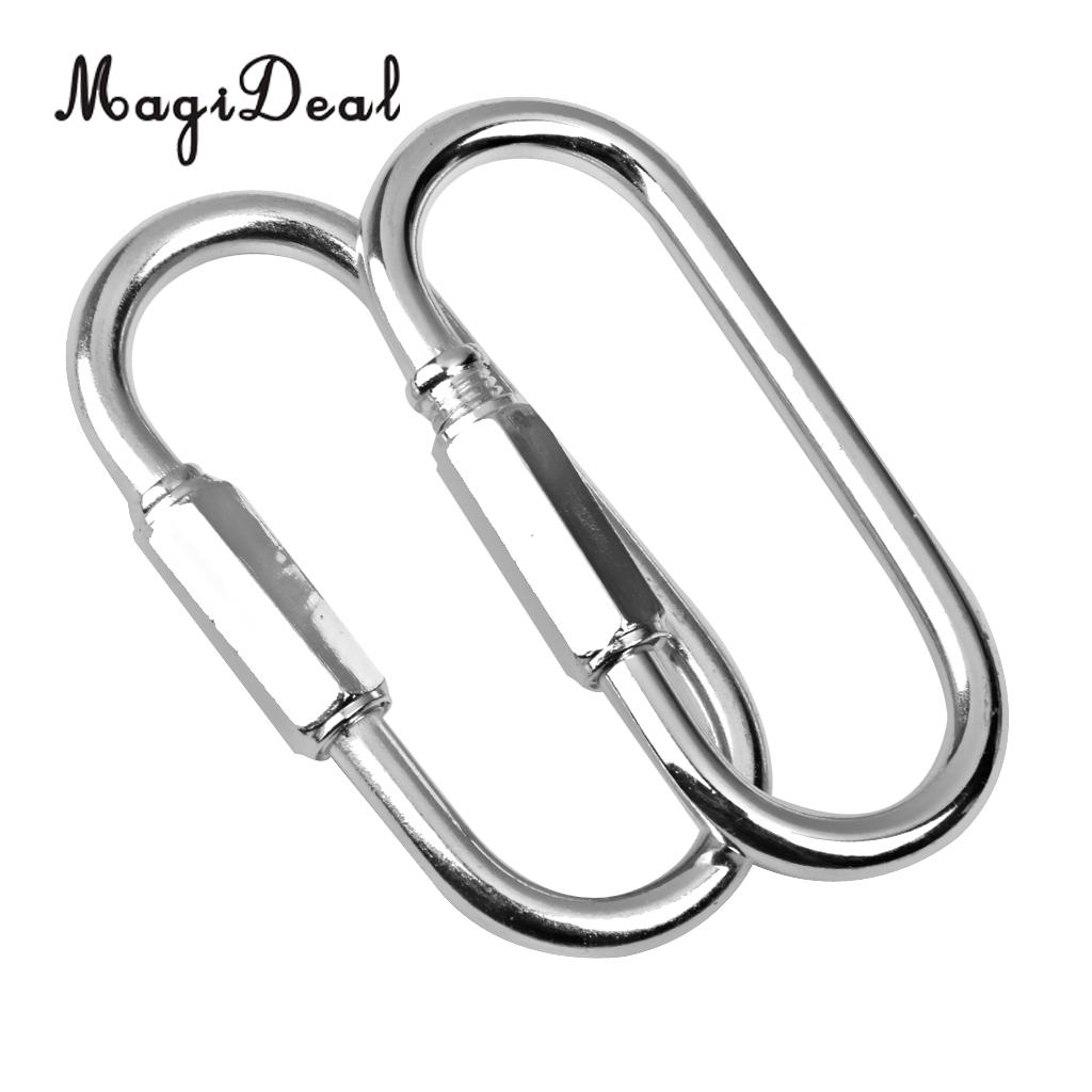 2Pieces Swing Clip Snap Hook Swing Connector Strong and Durable Silver Iron