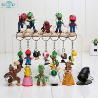 Halder Games Super Mario Brothers Luigi Cosplay Anime Figures Charms Key Chains Trinkets Accessories Gadgets Doll
