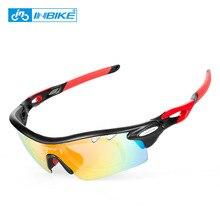 INBIKE Men's Women Polarized Cycling Glasses UV 400 Proof 5 Lens Cycling Eyewear Outdoor Sports Bike Fishing Antifog Sunglasses