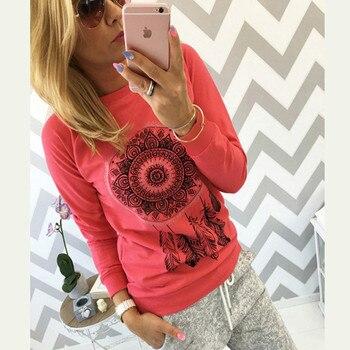 Women O-Neck Printed Sweatshirt 2