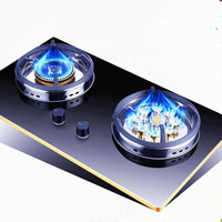 Home Major Natural Liquid Gas Built in Hobs Stove Dual Cooker Embedded Intense Fire Knob Cooktop Commercial Powerful Range