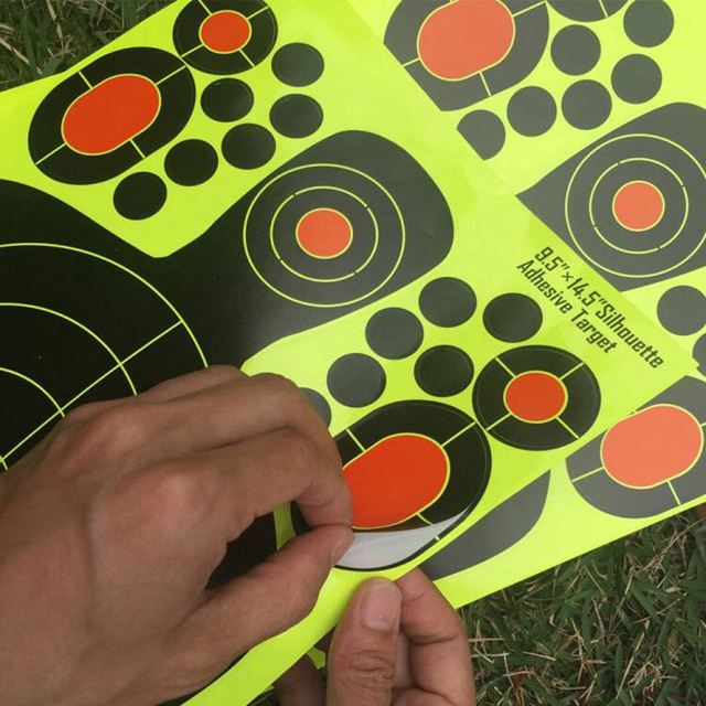 10pack realistic 9.5x12.5 inches targets for shooting paster sticker