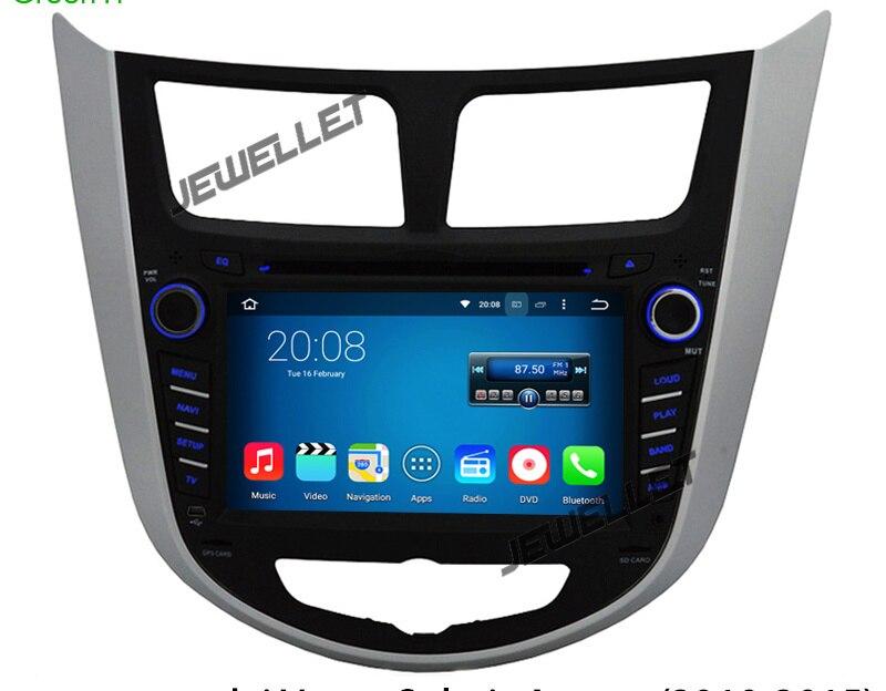 Octa core IPS écran Android 8.0 voiture DVD GPS radio Navigation pour Hyundai Accent i25 Solaris grand avega 2010-2016