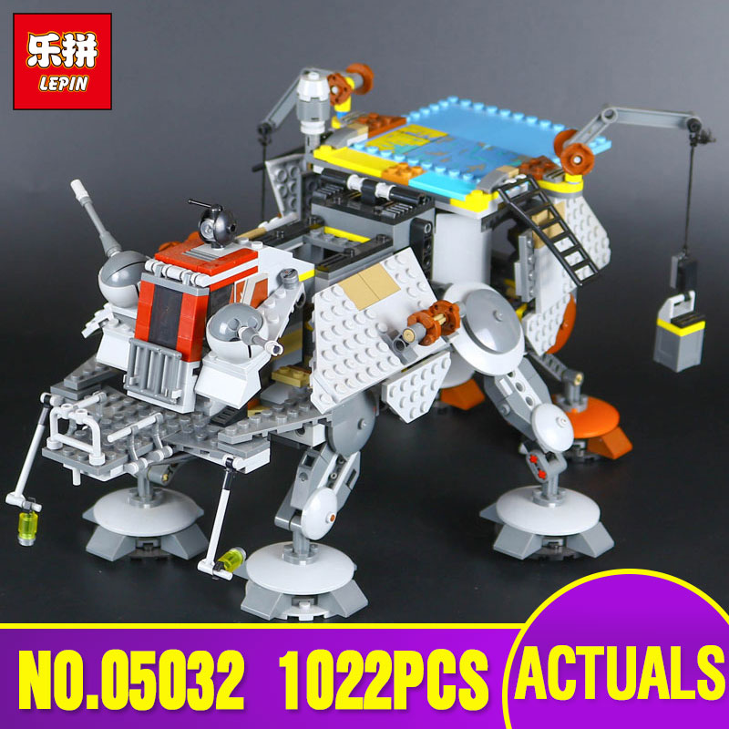 LEPIN 05032 Star 740pcs  Wars Captain Rex's AT-TE 75157 Building Blocks Compatible with 75157 Educational Boys Toys Model Gifts lepin 05032 star wars rex s at te model building kits compatible with lego city 3d blocks educational toys hobbies for children