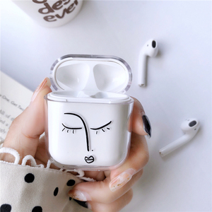 Image 5 - Transparent Hard Cases For Apple Airpods Wireless Bluetooth Earphone Cute Cartoon King Queen Clear Couple Cover Air Pods Earpods
