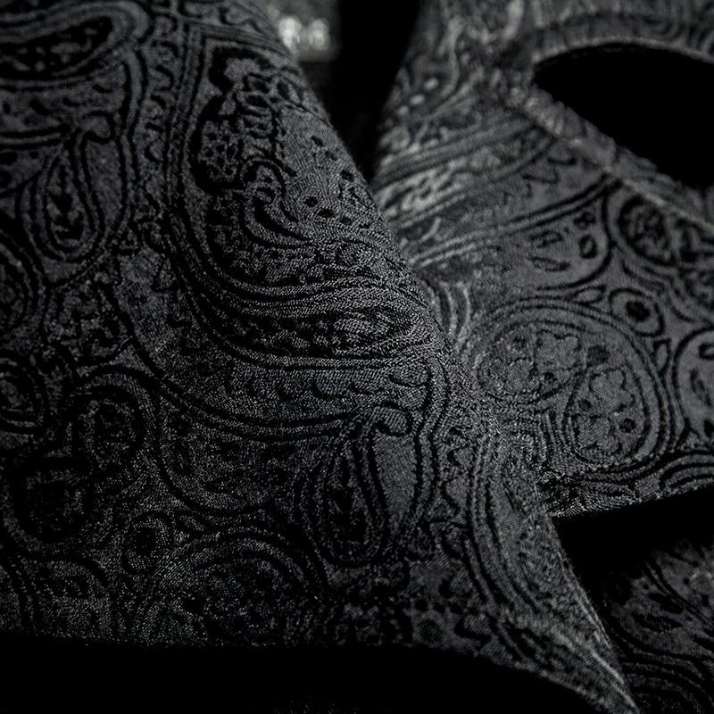 Стимпанк мужская длинная куртка в черную полоску с красными полосками пальто зимнее пальто Сценический костюм для костюмированной вечеринки - 6
