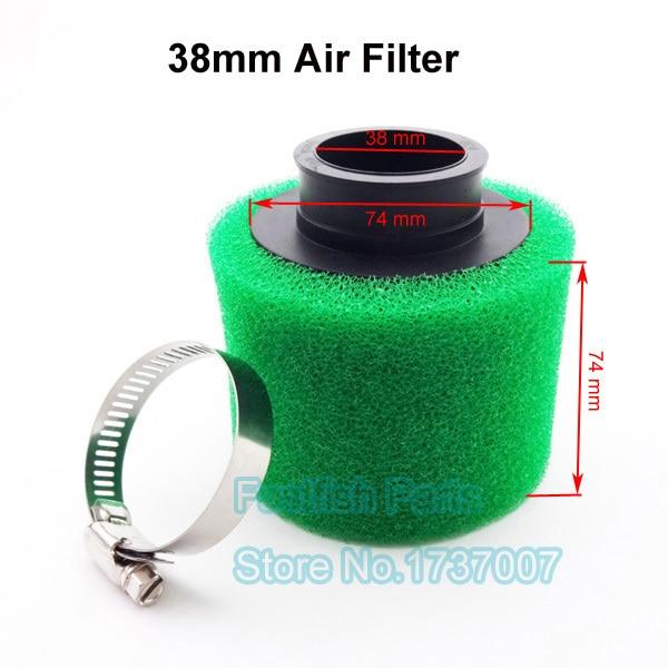 Черный и зеленый воздушный фильтр, 38 мм, производительность для мопеда GY6, 50cc, мотовездехода, зеленого цвета, Лифан, YX, Thumpstar, YCF, 125cc, питбайк