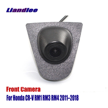 Liandlee Car Front View Camera Logo Embedded For Honda CR-V CRV RM1 RM3 RM4 2011-2018 2015 ( Not Reverse Rear Parking )