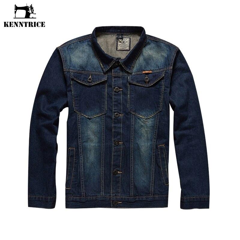Herenkleding & Accessoires Jassen Streetwear Mode Denim Jas