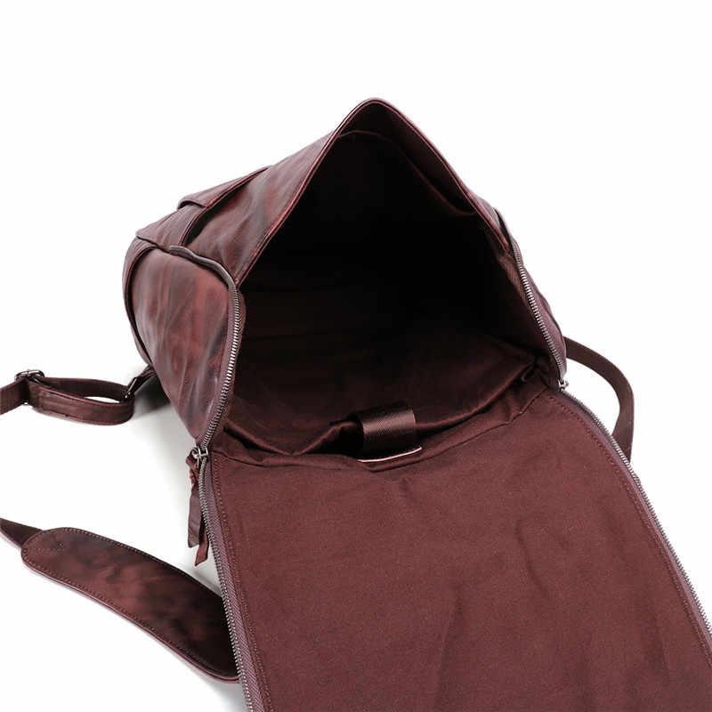 حقائب الظهر الرجالي من Nesitu ذات جودة عالية مصنوعة من الجلد الطبيعي والكلاب توب مقاس 14 بوصة 15.6 بوصة حقائب سفر رجالي مصنوعة من جلد البقر M6390