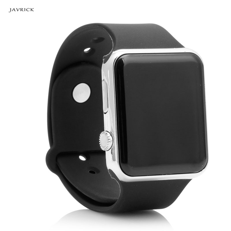 JAVRICK Men Womens Silicone LED Sport Watch Digital Bracelet <font><b>Unisex</b></font> Wrist Watches Black image