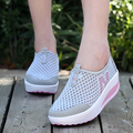 Summer Shoes Women Casual Shoes Breathable Air Mesh Outdoor Sport Walking Swing Wedges Dail Wear Shoes Female 22-25.5cm PA868158