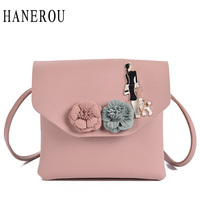 Fashion Floral Crossbody Bags For Women Flap Bags 2017 Small Sequined Women Messenger Bags 3D Flower