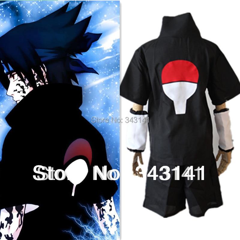 Anime font b Naruto b font font b Cosplay b font Costume Uchiha Sasuke 2nd Black
