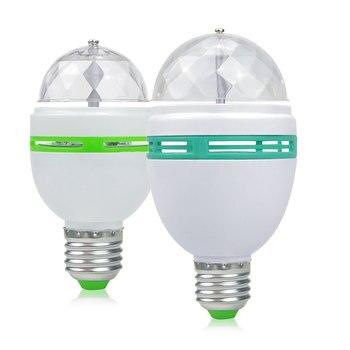 Bombillas LED 3W 6W E27 RGB rotación automática Luz de escenario AC85V - 265V Disco Fiesta de DJ bulbos de Club para fiestas danza entretenimiento DIY