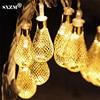 SXZM AC110V 220V 4M 20Led string light Mesh shape Outdoor decoartive holiday led lighting 8 modes EU/US plug Garden,Xmas trees