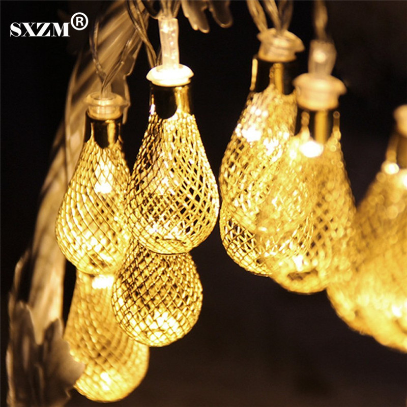 SXZM AC110V 220 V 4 M 20Led string licht Mesh vorm Outdoor decoartive holiday led-verlichting 8 modi EU / US plug Tuin, Xmas bomen