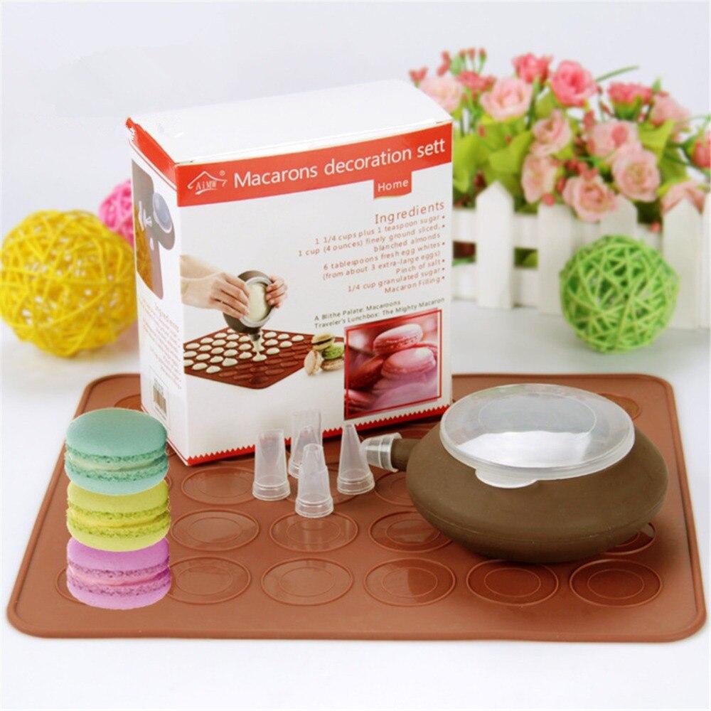 Hot Diy Macaron Kit Cake Mold Decoration Set 30 Holes