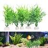 10 Pcs/Lot Artificial Aquarium Plants Aquatic Green Plant Aquarium Fish Tank decoration 15cm height for fish add extra fun