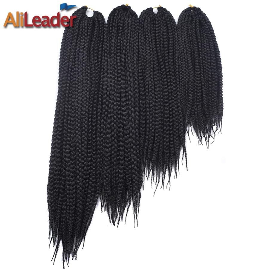 AliLeader 3S-Pre-Twist Crochet Braids Box Braids Kanekalon Hair 12 16 20 24 30 Inch 22Strands Synthetic Hair Extension Braid