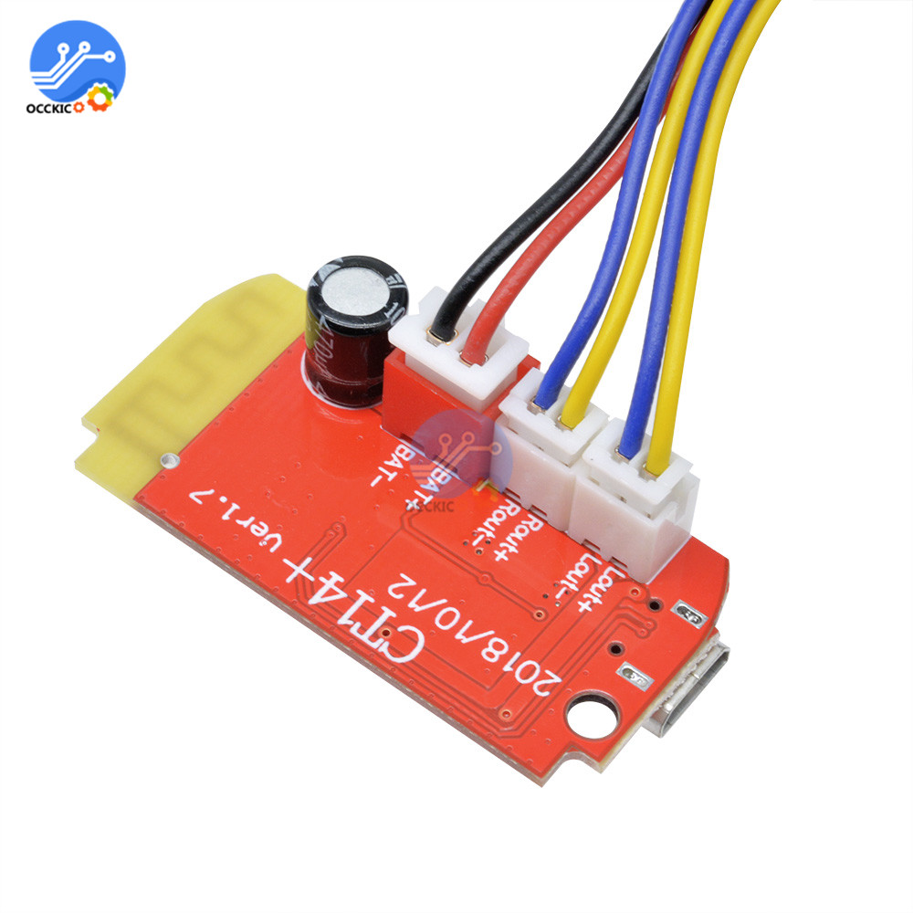 USB Bluetooth Digital Audio Amplifier Board 3.7-5V 3W Dual Plate DIY Wireless Bluetooth Speaker Sound Volume Control Module