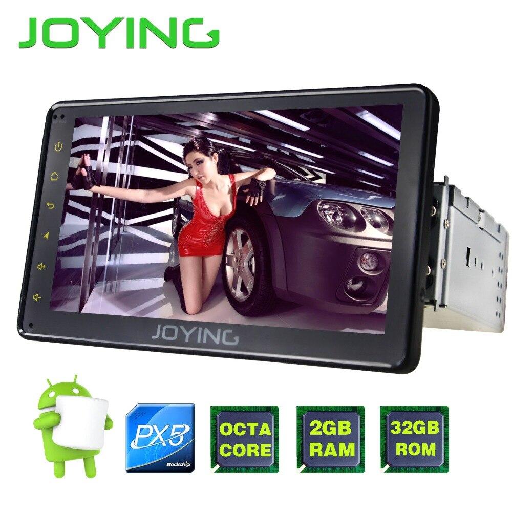 JOYING Unique Din Multimédia Lecteur 7 PX5 Tête Unité Universelle Android Voiture Radio Stéréo Magnétophone Soutien OBD2 Arrière Caméra