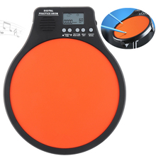 8 Inch Digital Electronic Dumb Drum Pad with Speed Detection Metronome Practice 3 IN 1 for Jazz Drums Exercise