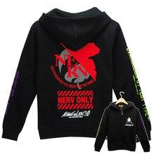 Neon Genesis Evangelion Cute Cartoon Sweatshirt  Women Men Hooded Harajuku Hoody Coat Jacket Warm Fleece Plus Size