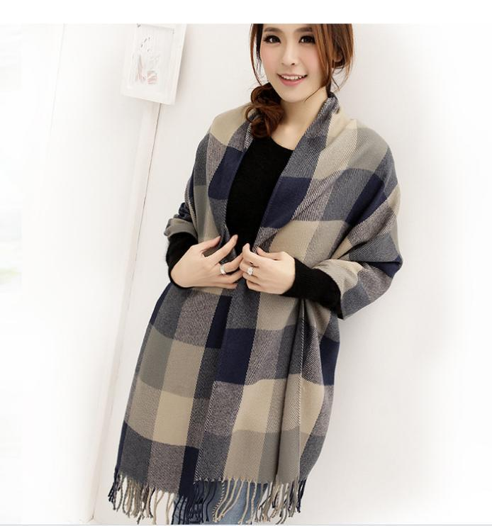 beautiful gros pclote femme foulards wraps imitation laine charpe chles  charpes de mode plaid pashmina cplors scarf dans foulards de mode femme  with grosse ... 2dc9a948195