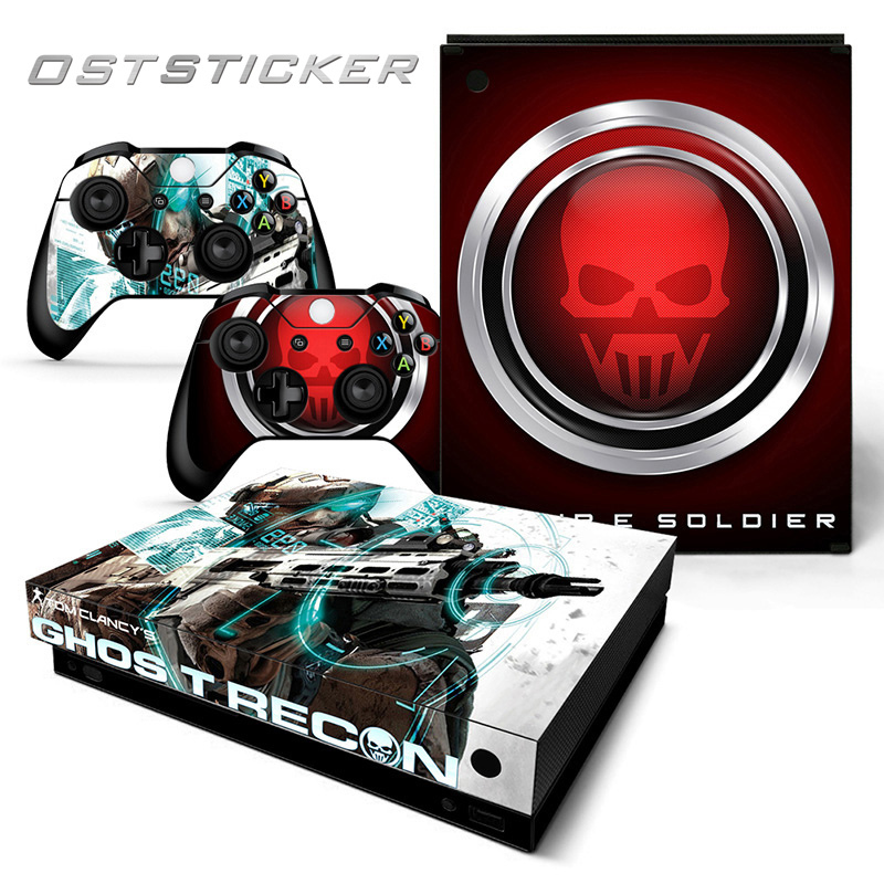 Faceplates, Decals & Stickers Xbox One X Skull Skin Sticker Console Decal Vinyl Xbox One Controller Video Games & Consoles