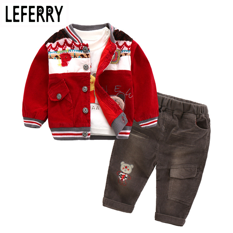 Baby Boy Clothes Sets 3PCS Newborn Infant Clothing Baby Boy Toddler Clothes Kids Baby Kleding Outerwear 2018 New Autumn