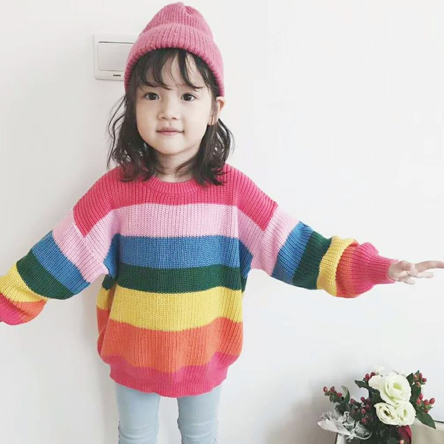 fa0097b6c Spring Autumn baby sweater girls knitwear kids tops children fashion ...