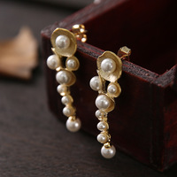 The spot! Hot style! Stylist hand made plain QingHuan Taiwan snails natural pearl ear 925 sterling silver needle