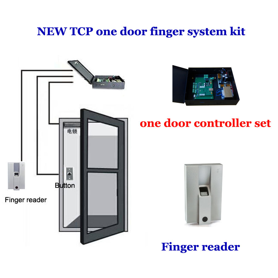 TCP/IP one door access system kit. finger Door access controller,power,exit button,Finger reader ,10pcs different finger,TFP-01 bca backcountry access snow study kit one