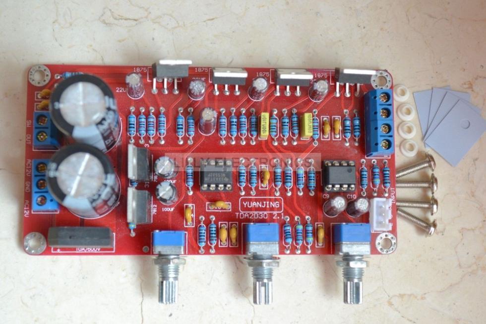 ne5532 lm1875 ic 20 w 2 40 w audio subwoofer amplificador montado board