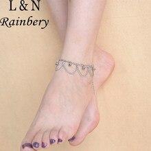 Brand Tassel Rainbery Anklet Ankle Bracelet Pulseras Tobilleras Silver Anklets For Women Summer Fine Jewelry Barefoot Sandals