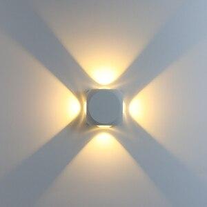 6W/12W LED Wall Lamp Garden Wall Light Balcony Light Fixture IP65 Outdoor Waterproof Indoor Decoration Corridor Lighting