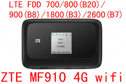 Unlocked zte mf910 cat4 150mbps 4g lte band 28 700 band wireless router 3g umts mobile.jpg 250x250