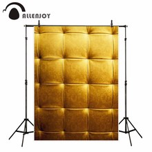 Allenjoy fondo fotográfico oro decoración de lujo vintage cabecero Damasco telón de fondo sesión fotográfica profesional personalizar