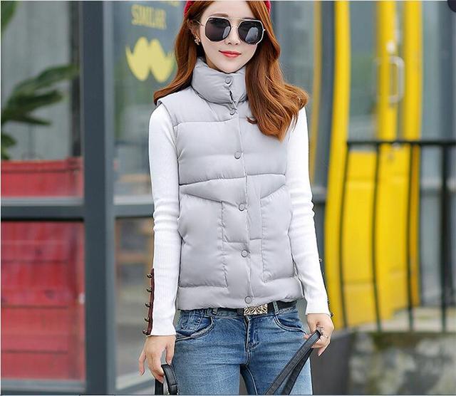 Barato al por mayor 2017 nueva venta Caliente Del Otoño Invierno moda de las mujeres prendas de vestir exteriores ocasional YX1036 Chaleco caliente