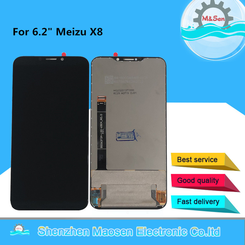 Original M Sen For 6 2 Meizu X8 LCD Screen Display Touch Screen Panel Digitizer For