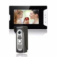 """HD 7 """"TFT Color Video de la puerta Sistema de Intercomunicación Del Timbre del teléfono Kit IR Cámara portero automático monitor de Altavoz de intercomunicación de Seguridad"""