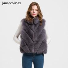 2016 Fox Real Fur Vest Women Winter Ladies Gilet  Fashion Waistcoat Coat Mandarin Collar S1710 цена
