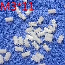 цена на M3*11 11mm 1 pcs white Nylon Hex Female-Female Standoff Spacer Threaded Hexagonal Spacer Standoff Spacer brand new
