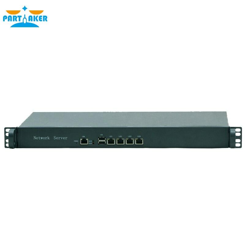 M5F 1U OEM Network Firewall D525 4*RTL 8111E gigabit lan 2*USB 1* COM router appliance
