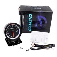 CNSPEED 60MM Car Voltmeter 8 18V Voltage Gauge Red White Lighting Volt Gauge Car Meter Gauge