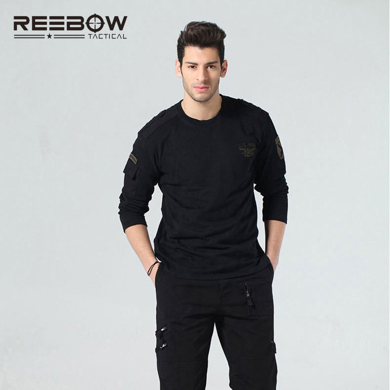 REEBOW TACTICAL Autumn Men Outdoor Long Sleeve T-Shirt Military SWAT Sports Hunting Airsoft Army Training Pullover T Shirt