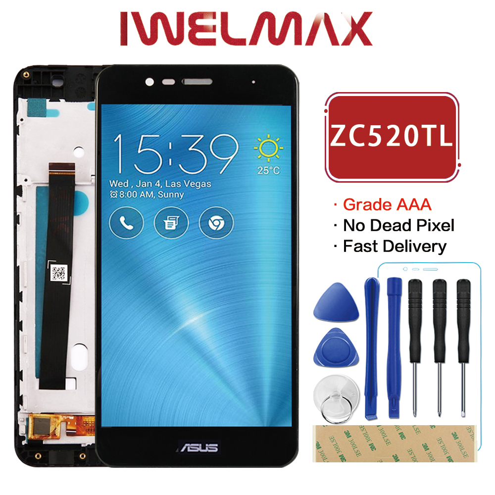 Warranty Tested 5.2'' 1920x1080 Display For Asus Zenfone 3 Max ZC520TL LCD Touch Screen Digitizer Assembly X008D